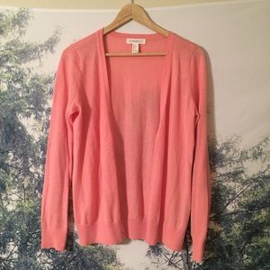 Peach button cardigan